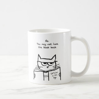 Angry Cat Steals Your Book Coffee Mug