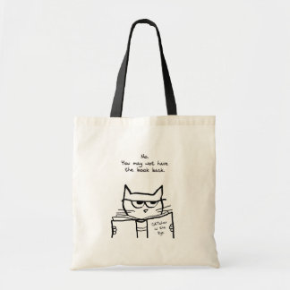 Angry Cat Steals Your Book Tote Bag