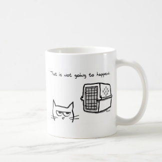 Angry Cat will NOT be going to the Vet Basic White Mug