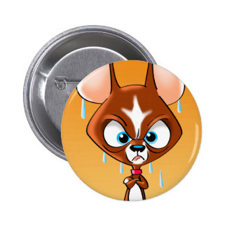 Angry Chihuahua 2 Inch Round Button