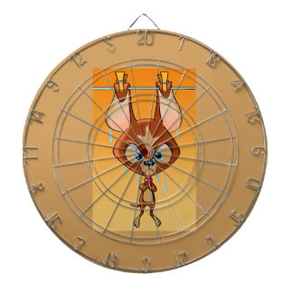 Angry Chihuahua Dartboard With Darts