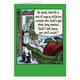 Angry Children Mob Christmas Humor Card