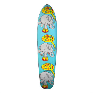 Angry circus elephant saying bad words custom skateboard
