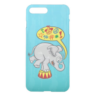 Angry circus elephant saying bad words iPhone 8 plus/7 plus case