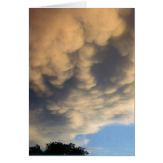 Angry Clouds Herald Storm Card