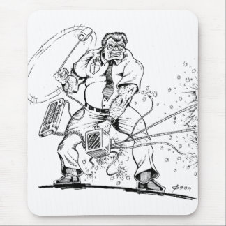 Angry Computer Guy Mouse Pad