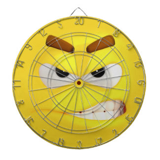 Angry #D Effect Emoji Dartboard