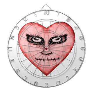 Angry Devil Heart Drawing Dart Boards