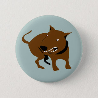 Angry Dog  Funny Bad Mood Warning 2 Inch Round Button
