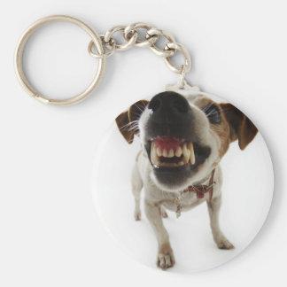 Angry dog keychain