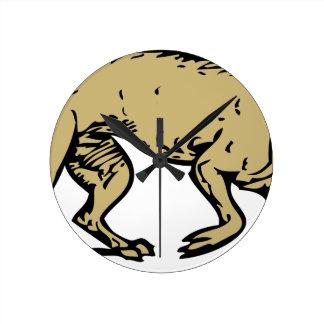 Angry Dog Round Clock