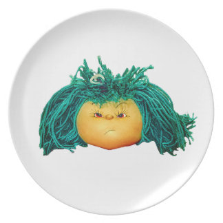 Angry Doll Plate