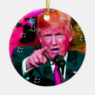 "Angry Donald Trump ""Fake News"" Christmas Ornament"