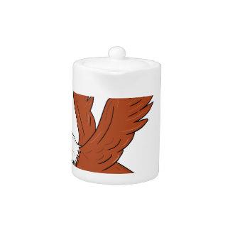 Angry Eagle Flying Cartoon