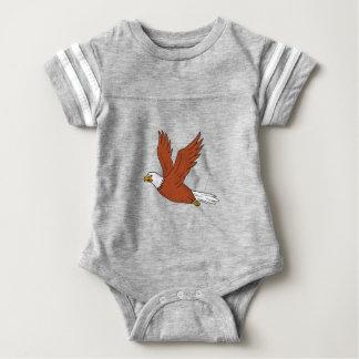 Angry Eagle Flying Cartoon Baby Bodysuit