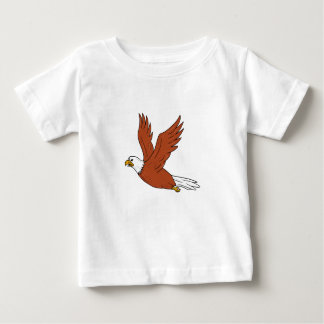 Angry Eagle Flying Cartoon Baby T-Shirt