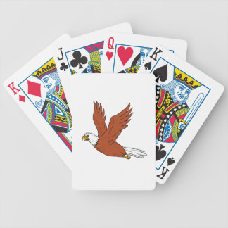 Angry Eagle Flying Cartoon Bicycle Playing Cards