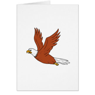 Angry Eagle Flying Cartoon Card