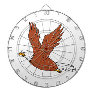 Angry Eagle Flying Cartoon Dartboard