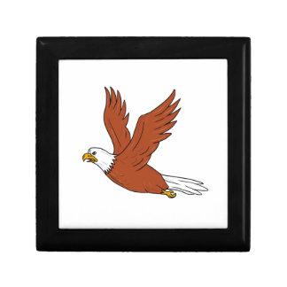 Angry Eagle Flying Cartoon Gift Box