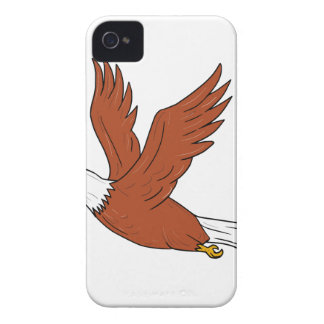 Angry Eagle Flying Cartoon iPhone 4 Case-Mate Case