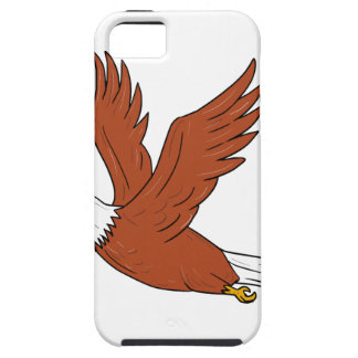 Angry Eagle Flying Cartoon iPhone 5 Cases