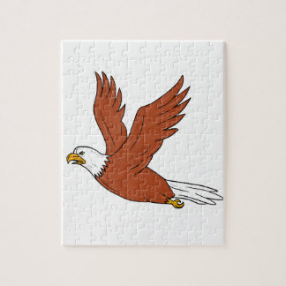 Angry Eagle Flying Cartoon Jigsaw Puzzle