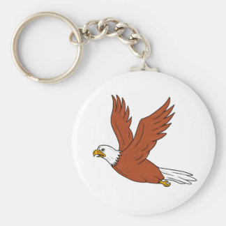 Angry Eagle Flying Cartoon Keychain