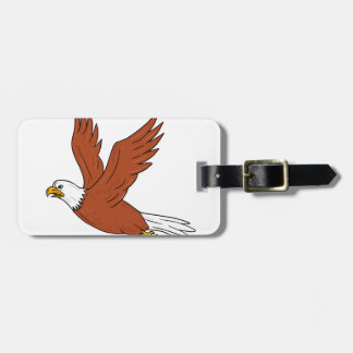Angry Eagle Flying Cartoon Luggage Tag