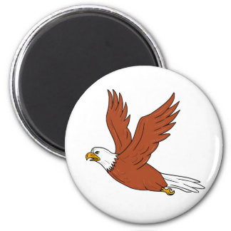 Angry Eagle Flying Cartoon Magnet
