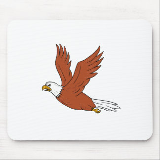 Angry Eagle Flying Cartoon Mouse Pad