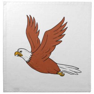 Angry Eagle Flying Cartoon Napkin