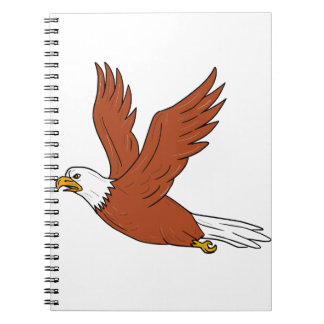 Angry Eagle Flying Cartoon Notebook