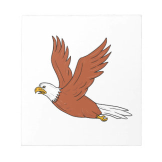 Angry Eagle Flying Cartoon Notepad