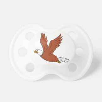 Angry Eagle Flying Cartoon Pacifier
