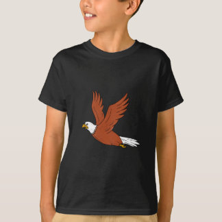 Angry Eagle Flying Cartoon T-Shirt