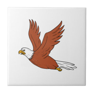 Angry Eagle Flying Cartoon Tile