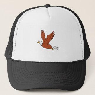 Angry Eagle Flying Cartoon Trucker Hat