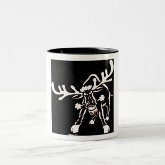 Angry Elk Two-Tone Coffee Mug