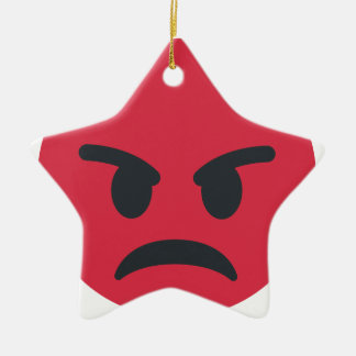 Angry Emoji Ceramic Ornament