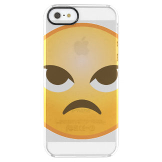Angry Emoji Clear iPhone SE/5/5s Case