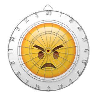 Angry - Emoji Dartboard With Darts