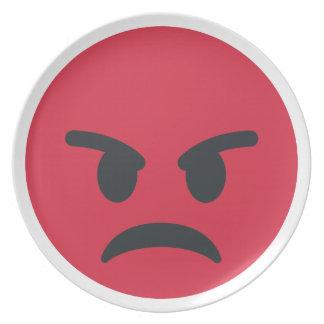 Angry Emoji Dinner Plate