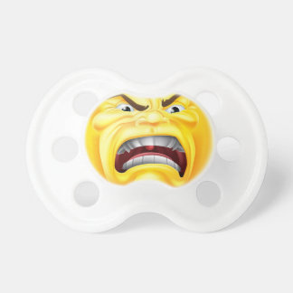 Angry Emoji Emoticon Icon Baby Pacifiers