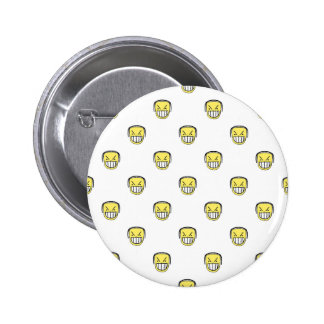 Angry Emoji Graphic Pattern 2 Inch Round Button