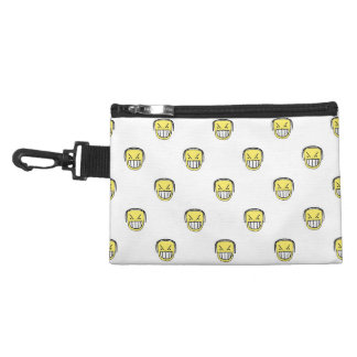 Angry Emoji Graphic Pattern Accessory Bag