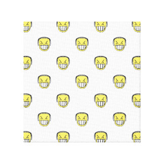 Angry Emoji Graphic Pattern Canvas Print