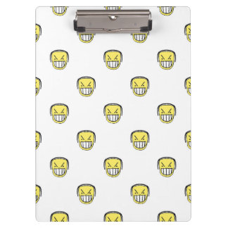 Angry Emoji Graphic Pattern Clipboard