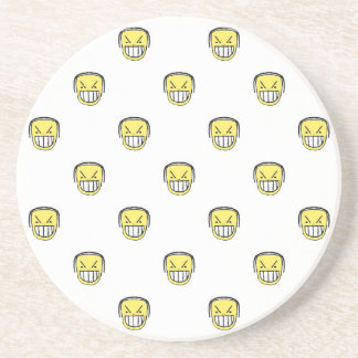 Angry Emoji Graphic Pattern Coaster