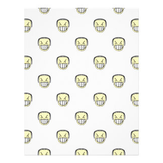 Angry Emoji Graphic Pattern Letterhead